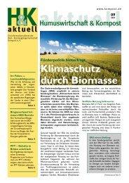 Klimaschutz durch Biomasse - Bundesgütegemeinschaft Kompost e.V.