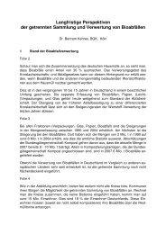 ECN-Perspektiven Bioabfallverwertung - Bundesgütegemeinschaft ...