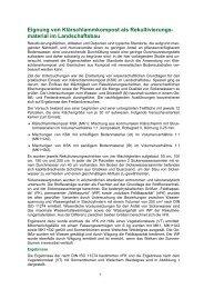 material im Landschaftsbau - Bundesgütegemeinschaft Kompost e.V.