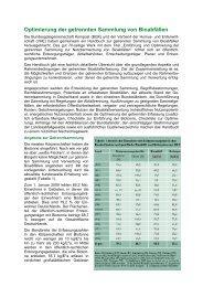 Optimierung der getrennten Sammlung von Bioabfällen