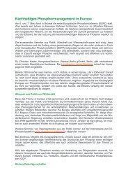 Nachhaltiges Phosphormanagement in Europa