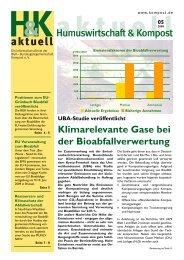 Klimarelevante Gase bei der Bioabfallverwertung 05