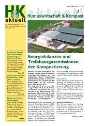 Energiebilanzen und Treibhausgasemissionen der Kompostierung