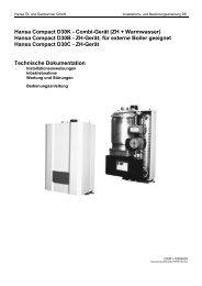 Hansa Compact D30K - Combi-Gerät (ZH + Warmwasser) Hansa ...
