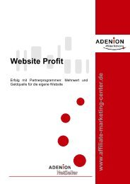 Website Profit - Affiliate Marketing Center