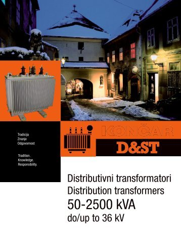 50-2500 kVA - Končar Distribution and Special Transformers Inc.