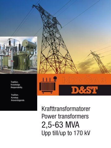 2,5-63 MVA - Končar Distribution and Special Transformers Inc.