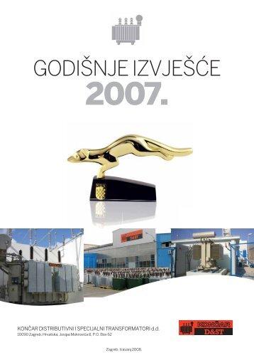 Godisnje Izvjesce 2007