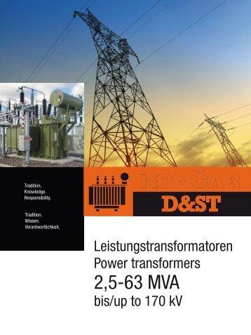 2,5-63 MVA - Končar Distribution and Special Transformers Inc.
