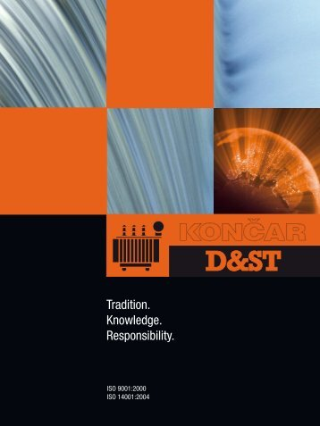 Tradition. Knowledge. Responsibility. - Končar Distribution and ...