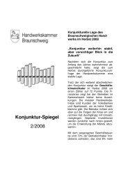 Konjunktur-Spiegel 2/2008 - Handwerkskammer Braunschweig