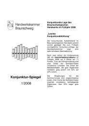 Konjunktur-Spiegel 1/2008 - Handwerkskammer Braunschweig