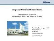 ecopower Mini-Blockheizkraftwerk