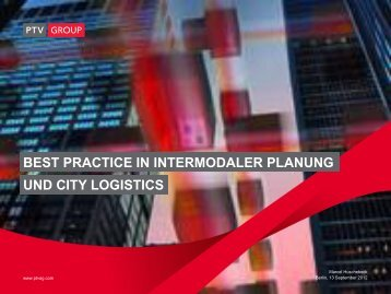 best practice in intermodaler planung und city logistics
