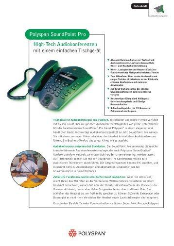 Beschreibung mit technischen Daten als pdf ... - Konferenztelefon