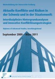 Aktuelle Konflikte und Risiken in der Schweiz und in der Staatenwelt: