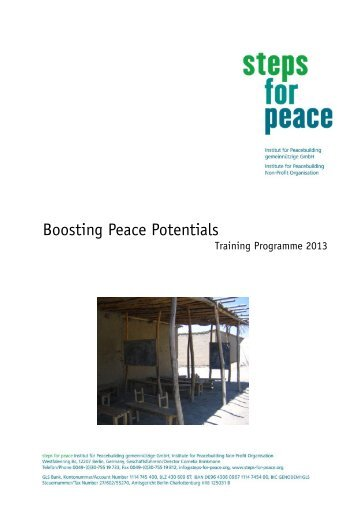 Steps for Peace – Training programme 2013