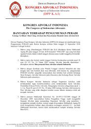 KONGRES ADVOKAT INDONESIA The Congress of Indonesian ...