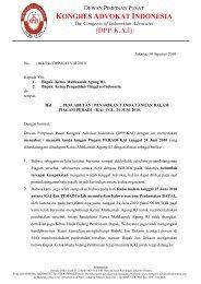 The Congress of Indonesian Advocates - Kongres Advokat Indonesia