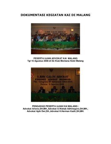 dokumentasi kegiatan kai di malang - Kongres Advokat Indonesia