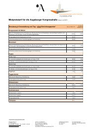 Preisliste_KH - Stand 03.03.10 - Kongress am Park - Augsburg