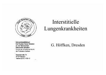 Interstitielle Lungenkrankheiten - Kongressanmeldung.de