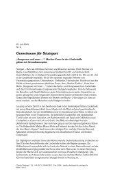 Landesmesse Stuttgart GmbH - und Kongresszentrum Liederhalle