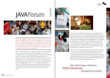 Java Forum 7. Juli 2011 - Kongresszentrum Stuttgart