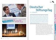 Deutscher Stiftungstag 11.-13. Mai 2011 - Kongresszentrum Stuttgart