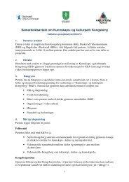 Samarbeidsavtale om Kunnskaps - Kongsberg Kommune