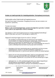Avtalen om lærlingeinntak for helsefagarbeidere i Kongsberg ...