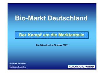 Vergleich der Bio-TK-Fertiggerichte im LEH - Agromilagro research