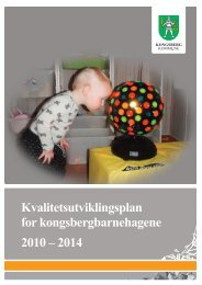 Kvalitetsutviklingsplan - Kongsberg Kommune