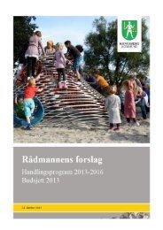 forslag til budsjett 2013 - Kongsberg Kommune
