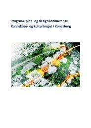 Program, plan - Kongsberg Kommune