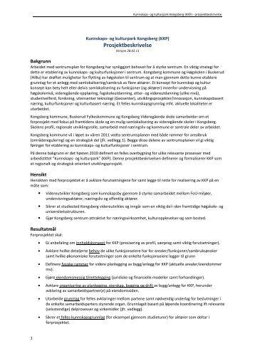 KKP Prosjektbeskrivelse - Kongsberg Kommune
