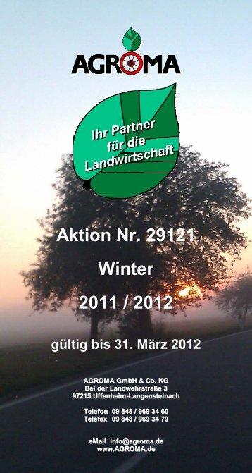 Aktion Nr. 29121 Winter 2011 / 2012 - Agroma