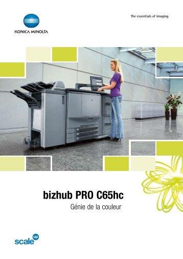 Brochure bizhub PRO C65hc - Konica Minolta