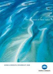 CSR-Bericht 2008 (PDF: 4.35MB) - Konica Minolta