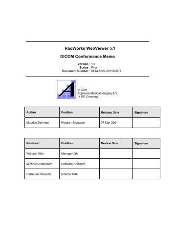 Radworks Web Viewer 5.1 DICOM Conformance ... - Konica Minolta