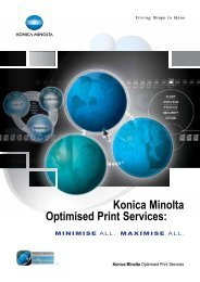 Download the Optimised Print Services brochure - konica minolta