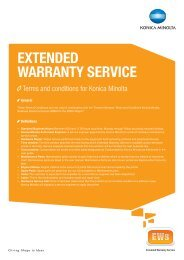 General Warranty Terms and Conditions for the ... - Konica Minolta