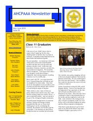 AHCPAAA Newsletter - Arlington Heights Citizen Police Academy ...