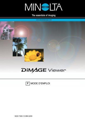 Dimage Viewer 2.1 - Konica Minolta Photo Imaging Europe GmbH