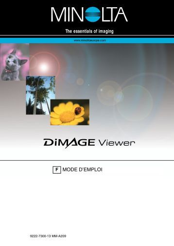 Dimage Viewer 2.1 - Konica Minolta Photo Imaging Europe GmbH