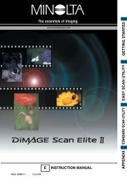 DiMAGE Scan Elite II Hardware OM - Konica Minolta Photo Imaging ...