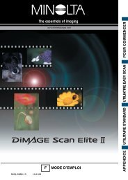 DiMAGE Scan Elite II - Konica Minolta Photo Imaging Europe GmbH