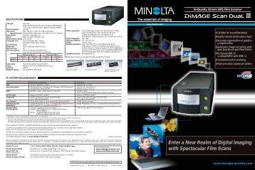 Brochure DiMAGE Scan Dual III - Konica Minolta Photo Imaging ...