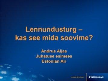 Lennundusturg- kas see, mida soovime? (Andrus ... - Konkurentsiamet