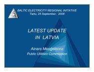 Ainars Mengelsons, Public Utilities Commission - Konkurentsiamet